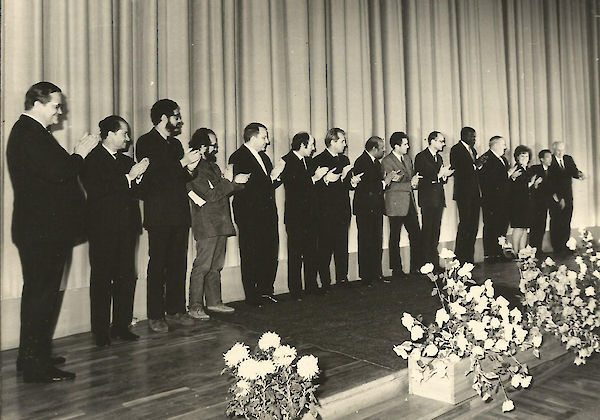 The prize ceremony for the 1972 edition of the festival